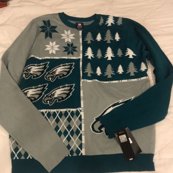 new concept 9326a 13b98 Philadelphia Eagles Christmas Sweater NWT